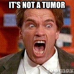 Tumor Meme - arnold schwarzenegger yelling meme generator
