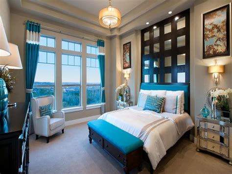 Brown Bedrooms Ideas, Teal And Brown Master Bedroom Decor