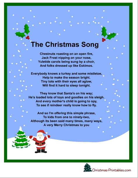 let it snow christmas song lyrics printable holiday