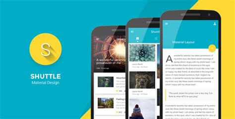 Themeforest Gravity Material Mobile App Template by Shuttle Material Design Mobile Template By Codnauts