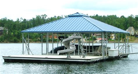 Small Covered Boat by Hip Roof Covered Boat Docks Flotation Systems Aluminum