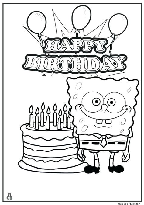 happy birthday printable coloring pages  getcoloringscom  printable colorings pages