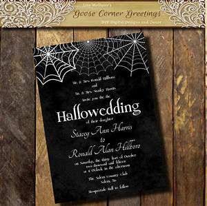 printable halloween wedding invitation from With buy halloween wedding invitations