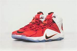 Nike LeBron 12 - University Red - White - Black ...