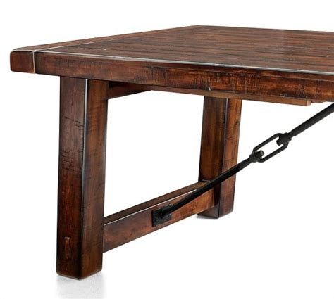 Pottery Barn Table Ls by Benchwright Extending Dining Table Rustic Mahogany