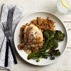 Diabetic Meal Plans Free Roast Chicken With Parmesan Herb Sauce Recipe Eatingwell