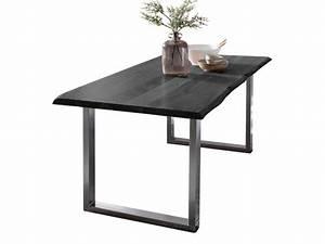 Esstisch Akazie Baumkante : baumkante esstisch massiv akazie grau 160 x 85 cm ~ Watch28wear.com Haus und Dekorationen