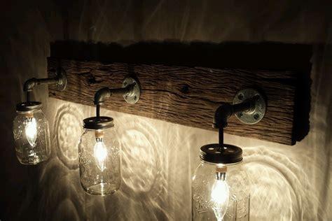 galvanized pendant light barnwood jar light fixture