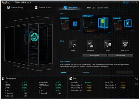 fan speed control software bios and software asus tuf z87 gryphon review