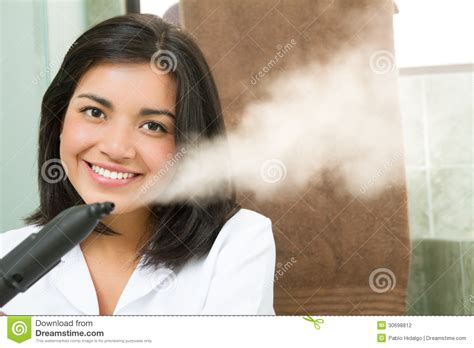 Beautiful Cleaning Lady At Her Work Stock Photography