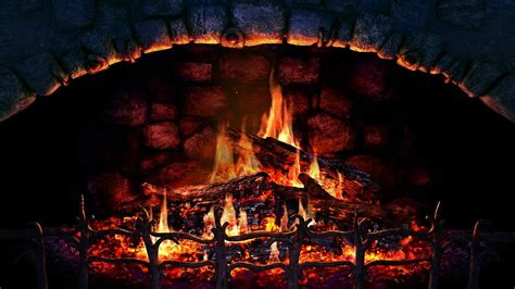 burning fireplace hd with crackling sounds 1 hour