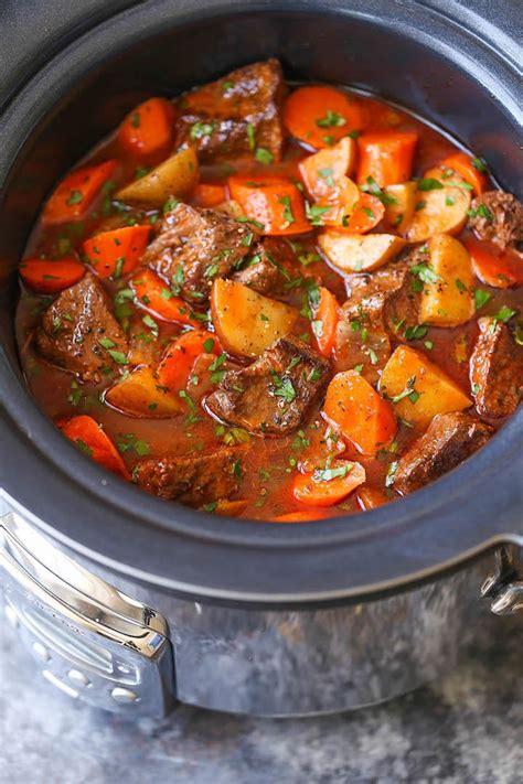 stew beef cooker slow recipes recipe pot crock crockpot meat tender cozy cook delicious christmas hearty winter meal stews soup