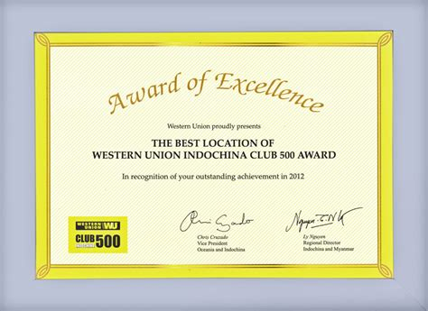 Closet Western Union by Award Of Excellence For The Best Location From Western Union