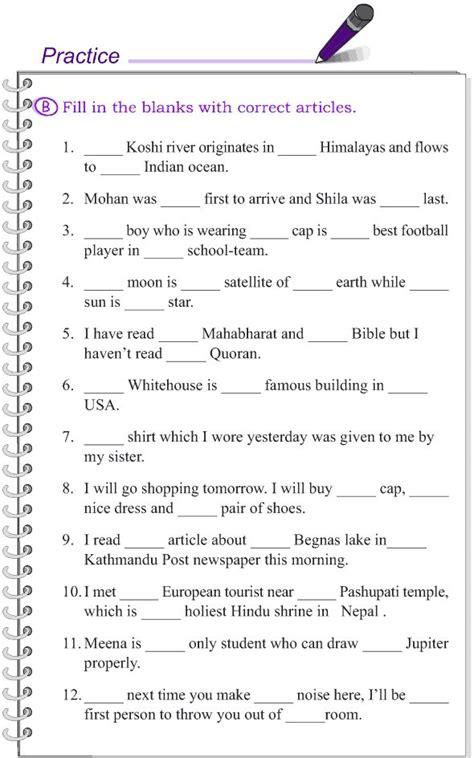 grade  grammar lesson  articles english grammar