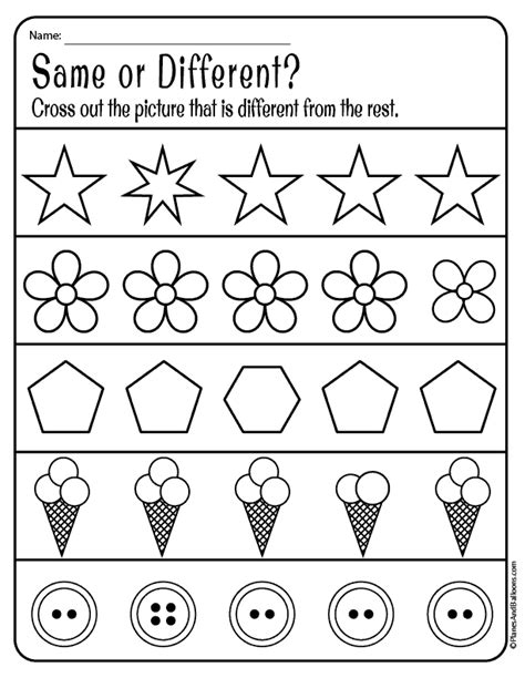 worksheets  preschool
