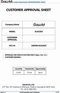 Solum El022d2 Electronic Shelf Label User Manual Esl Tag