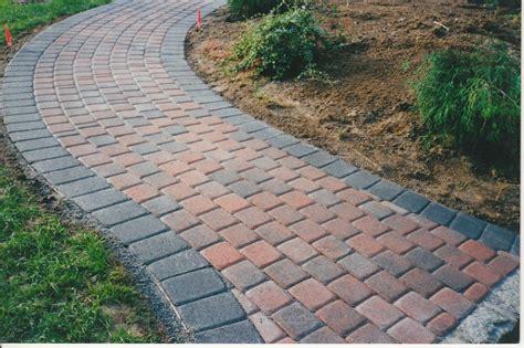 brick paver sidewalk designs beautiful tumble brick pavers walkway with interestings color