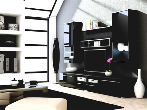 Simple Cabinet Living Room Showcase Tv Stand With Designs