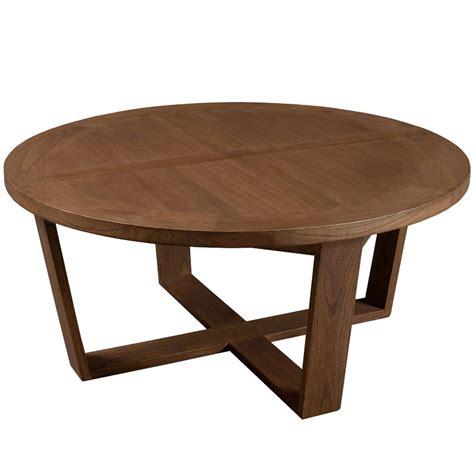 Table Basse Ronde 90 Cm Bois Fanny  Univers Salon