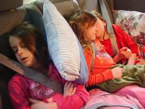 Girls Sleeping Car