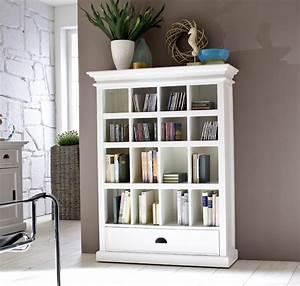 étagère Bibliothèque Bois : biblioth que bois blanc collection leirfjord ~ Teatrodelosmanantiales.com Idées de Décoration