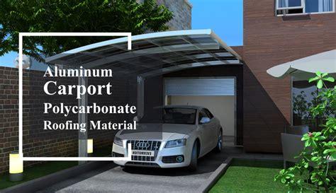 Aluminum Carport Materials by Aluminum Carport Polycarbonate Roofing Buy Outdoor