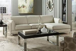 homelegance modern small beige top grain leather sectional With small beige sectional sofa