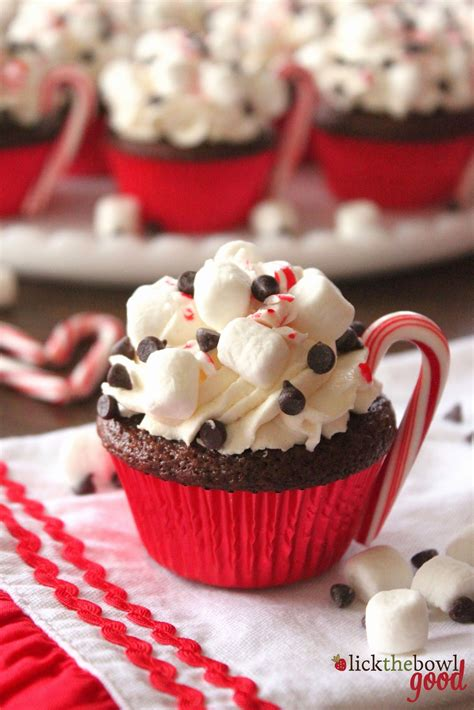 christmas cupcakes lick the bowl good hot cocoa cupcakes for people com