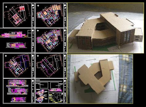 miraflores cultural center  autocad cad  mb
