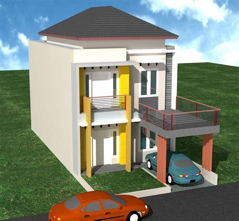 desain rumah minimalis  lantai budget  juta