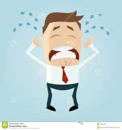 Sad Person Crying Cartoon
