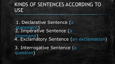 kinds  sentences     structure
