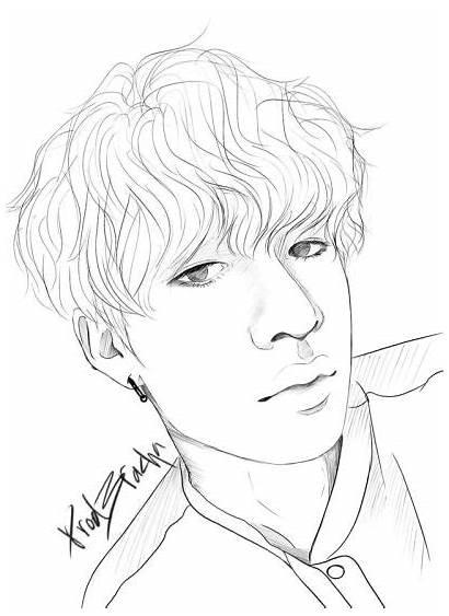 Chan Stray Drawing Drawings Sketch Kpop Bang