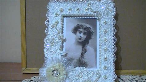 Shabby Chic Altered Photo Frame Trash Treasure