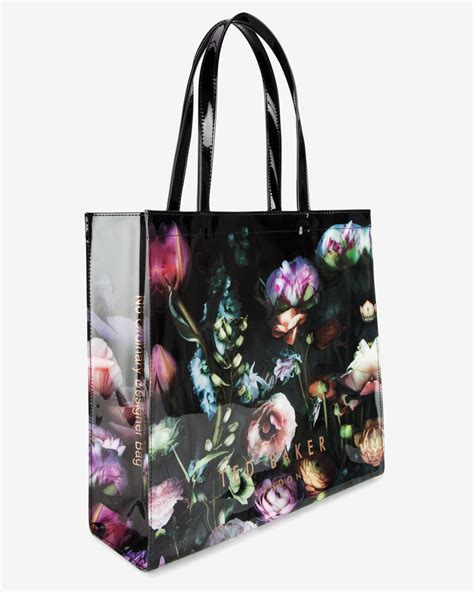 lyst ted baker shadow floral print shopper bag