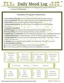 Printable CBT Worksheets Thought Distortions