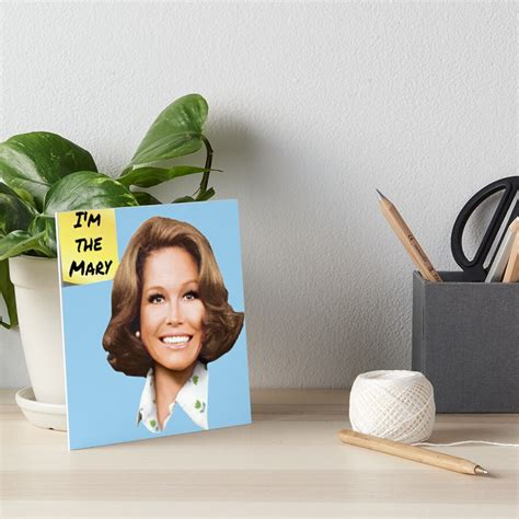 """No cause of death was given, though. """"Mary Tyler Moore- I'm the Mary"""" Art Board Print by IndecentDesigns   Redbubble"""
