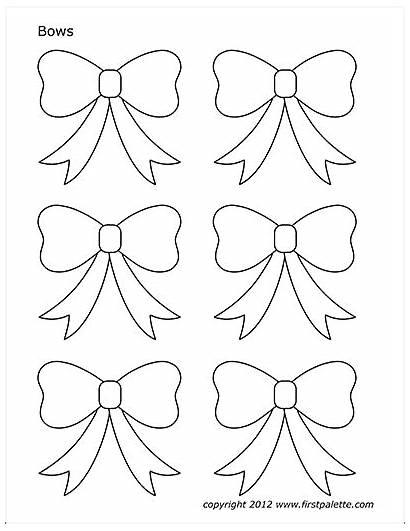Template Bows Printable Christmas Templates Bow Coloring