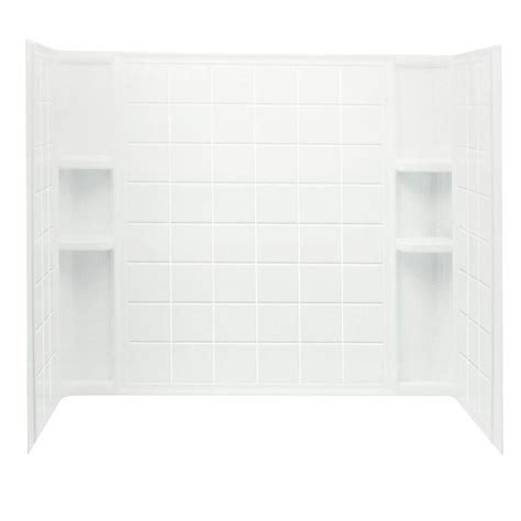 bathtub wall set sterling ensemble tile 60 in x 32 in x 55 1 4 in 3