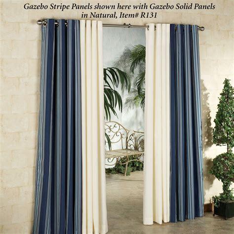 gazebo stripe indoor outdoor curtain panels