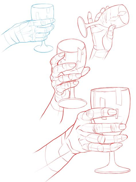 hand holding glass drawing reference  sketches  artists