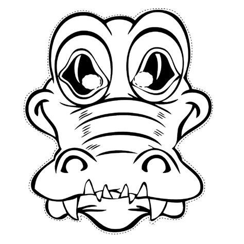 Kleurplaat Carnaval Trol Masker by Leuk Voor Masker Krokodil
