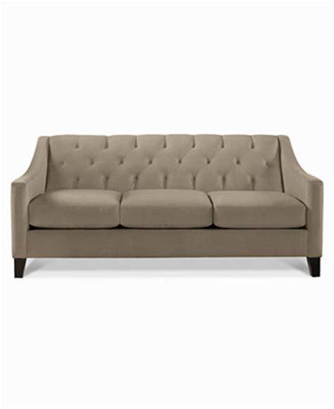Chloe Velvet Tufted Sofa, Only At Macy's