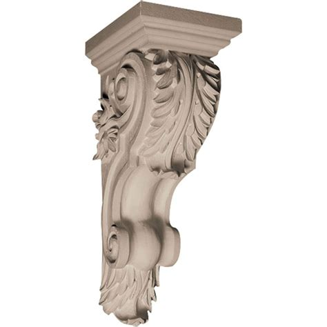 Resin Corbel by Pearlworks Cb 112 Traditional Acanthus With Leaves On