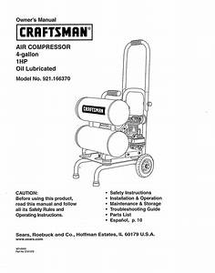 Craftsman 921 166370 Owner U0026 39 S Manual