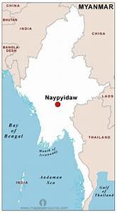 Free Burma Capital Map Capital Map Of Burma Open Source