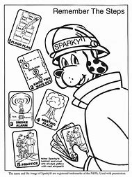 Fire Safety Sparky The Dog Coloring Pages