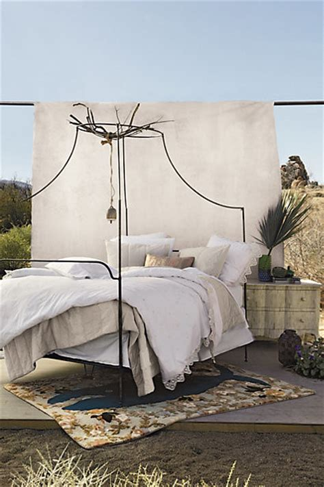 Italian Campaign Canopy Bed  Eclectic  By Anthropologie