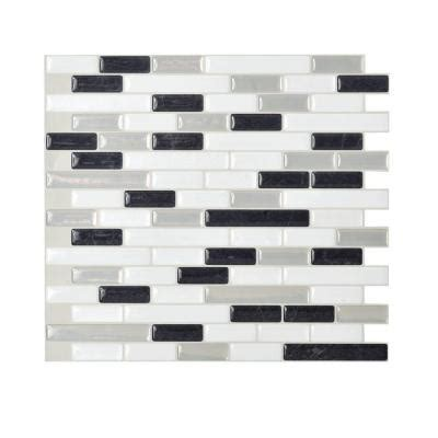 smart tiles muretto alaska 10 20 in x 9 10 in peel and stick mosaic 3d gel decorative wall