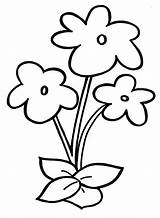 Flowers Pages Printing Print Coloring Template Children Preschool sketch template